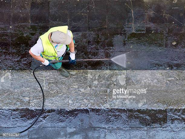 pressure - street sweeper stock pictures, royalty-free photos & images