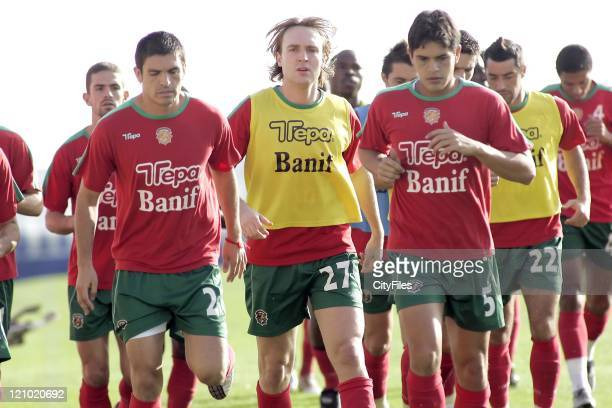 Prest Arvid Smit and Fahel during Smit's first training session with new team Maritimo January 15 2007