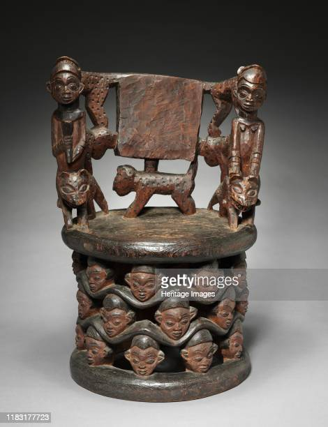Prestige Chair 1800s The Babanki one of the chiefdoms that comprise the Cameroon Grassfields value elaborately carved chairs or thrones They serve as...