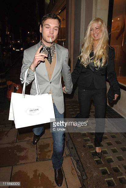 Preston and Chantelle Houghton during Prada and GQ Style Host Spring/Summer Preview Party Departures March 30 2006 at Prada Store in London Great...