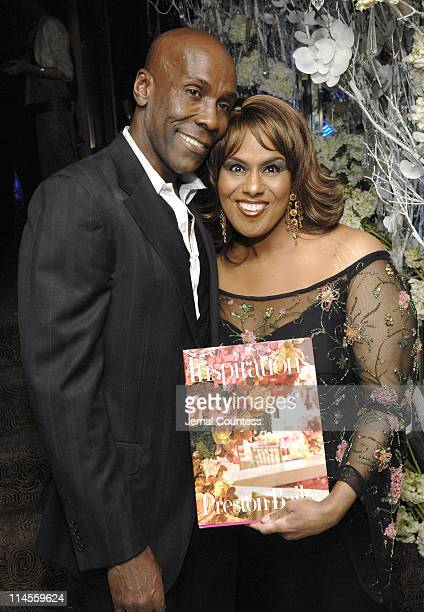 Preston Bailey and Jennifer Holliday with Preston's Book Inspirations