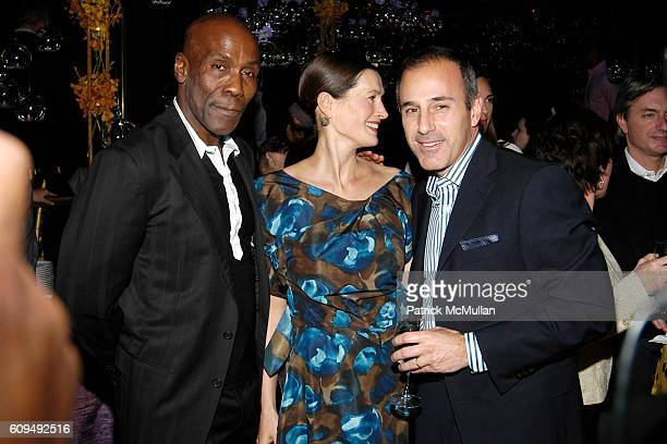 Preston Bailey Annette Roque Lauer and Matt Lauer attend PRESTON BAILEY Inspirations Book Launch Party at Rainbow Room on January 31 2007 in New York...