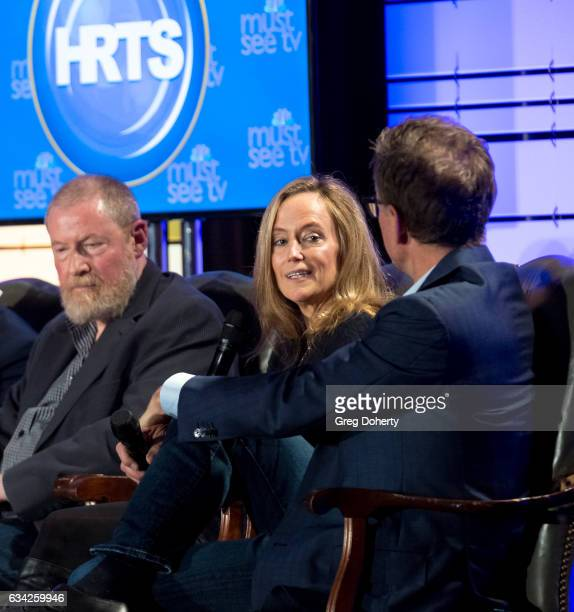 Preston Beckman Karey Burke and Kevin Reilly attend The Hollywood Radio And Television Society Presents The Newsmaker Luncheon Series A Moment In...