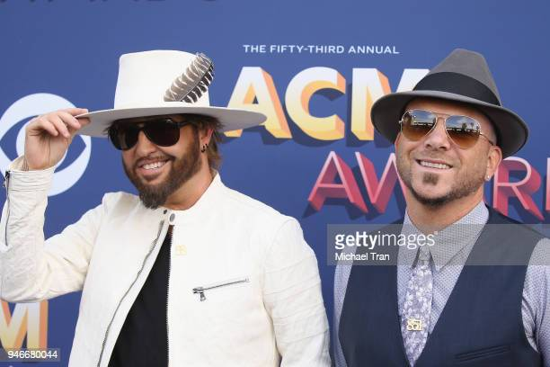 Preston Brust and Chris Lucas attend the 53rd Academy of Country Music Awards at MGM Grand Garden Arena on April 15 2018 in Las Vegas Nevada