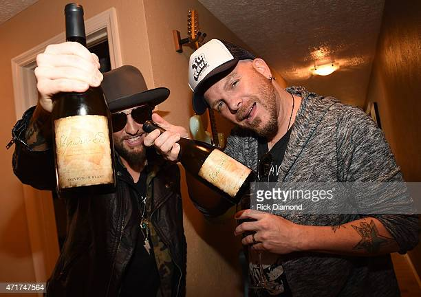 Preston Brust and Chris Lucas during their 'Shipwrecked' signature wine tasting recepting on April 30 2015 in Brentwood Tennessee