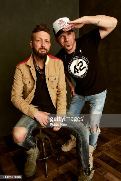 Preston Brust and Chris Lucas of LoCash are photographed at the iHeartCountry Festival on May 4 2019 at The Frank Erwin Center in Austin Texas