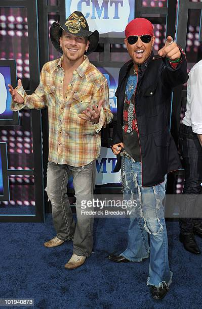 Preston Brust and Chris Lucas of LoCash Cowboy attend the 2010 CMT Music Awards at the Bridgestone Arena on June 9 2010 in Nashville Tennessee