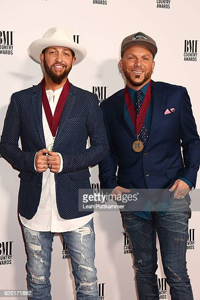 Preston Brust and Chris Lucas of Locash Cowboys attend the 64th Annual BMI Country awards on November 1 2016 in Nashville Tennessee