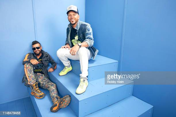 Preston Brust and Chris Lucas of LOCASH pose for a portrait during the 2019 CMT Music Awards at Bridgestone Arena on June 5 2019 in Nashville...