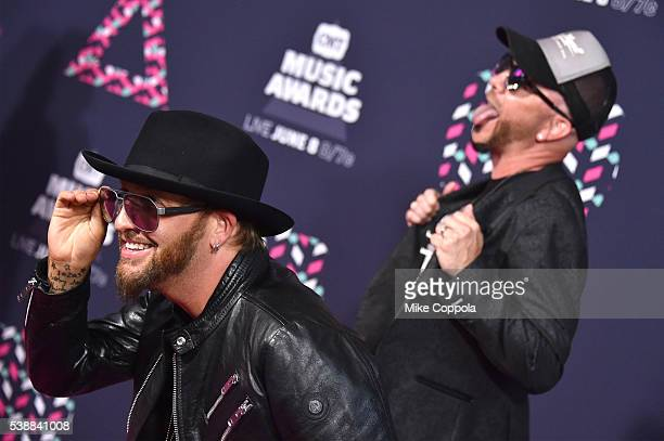 Preston Brust Chris Lucas from musical duo LoCash attends the 2016 CMT Music awards at the Bridgestone Arena on June 8 2016 in Nashville Tennessee
