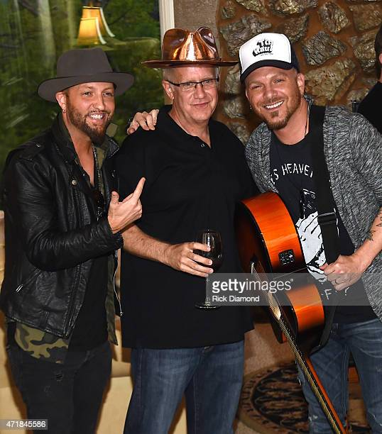Preston Brust Jon Ozor and Chris Lucas attend 'Shipwrecked' signature wine tasting recepting on April 30 2015 in Brentwood Tennessee