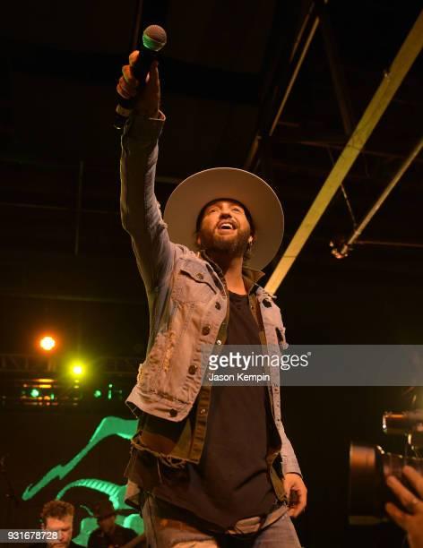 Preston Brust of LoCash performs at Marathon Music Works on March 13 2018 in Nashville Tennessee