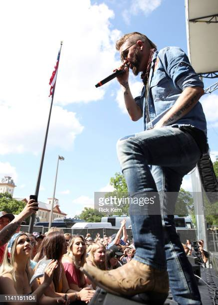 Preston Brust of LOCASH performs live during the Daytime Village at the 2019 iHeartCountry Festival Presented by Capital One at the Frank Erwin...