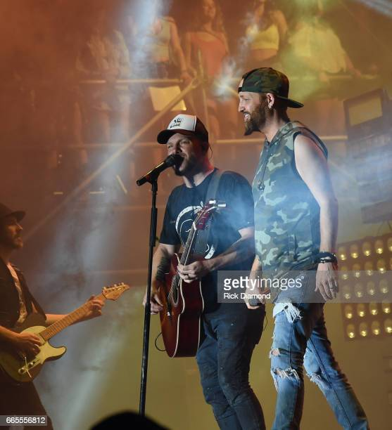 Preston Burst and Chris Lucas of LoCash performs during Day 1 Country Thunder Music Festival Arizona on April 6 2017 in Florence Arizona