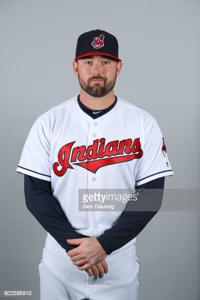 Preston Claiborne of the Cleveland Indians poses during Photo Day on Wednesday February 21 2018 at Goodyear Ballpark in Goodyear Arizona