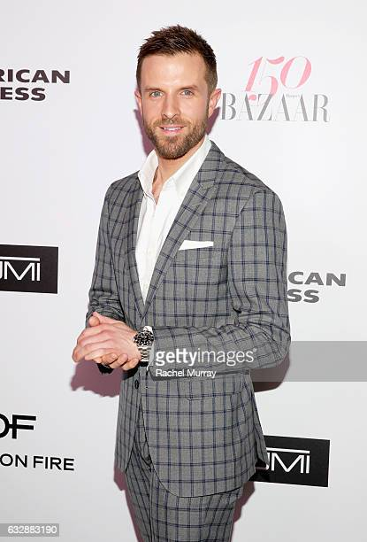 Preston Konrad attends Harper's BAZAAR celebration of the 150 Most Fashionable Women presented by TUMI in partnership with American Express La Perla...