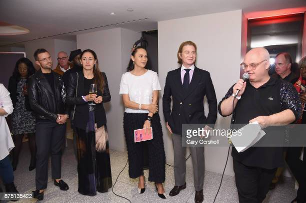Preston Konrad Mara Hoffman Natalie Kates Eric Javits and event host Mickey Boardman attend Housing Works' Fashion for Action 2017 charity event at...