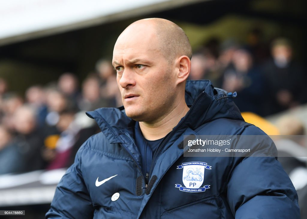Preston Manager Alex Neil during the Sky Bet Championship match between Millwall and Preston North End at The Den on January 13, 2018 in London, England.