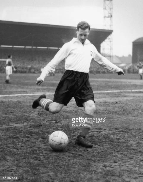 Preston North End footballer Tom Finney warming up before a match 22nd January 1955 Original Publication Picture Post 7494 Tom Finney Of Preston pub...