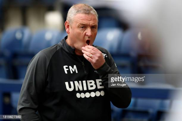 Preston North End interim manager Frankie McAvoy looks on ahead of the Sky Bet Championship match between Preston North End and Barnsley at Deepdale...