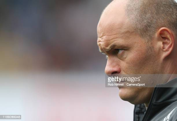 Preston North End manager Alex Neil during the Sky Bet Championship match between Millwall and Preston North End at The Den on August 3 2019 in...
