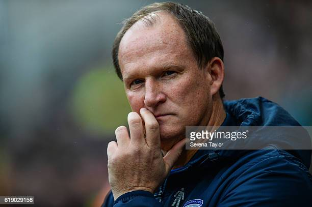 Preston North End Manager Simon Grayson during the Sky Bet Championship Match between Preston North End and Newcastle United at Deepdale on October...