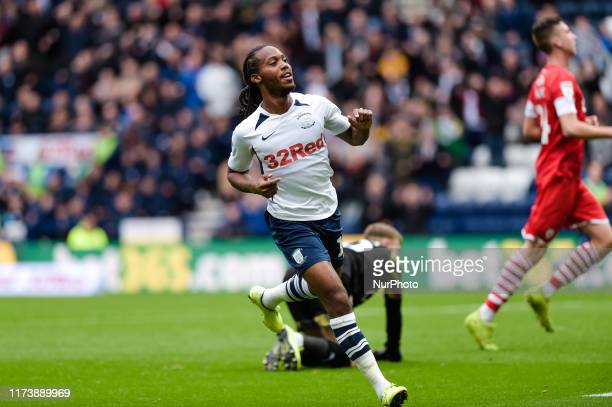 Preston North End midfielder Daniel Johnson makes it 31 during the Sky Bet Championship match between Preston North End and Barnsley at Deepdale...