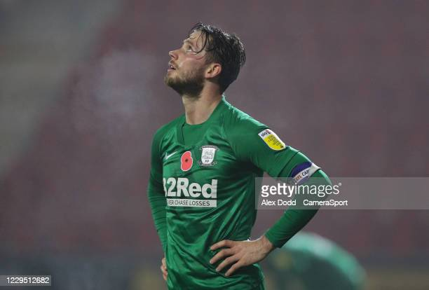 Preston North End's Alan Browne reacts as the final whistle blows during the Sky Bet Championship match between Rotherham United and Preston North...