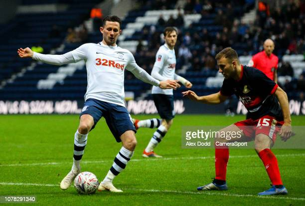 Preston North End's Alan Browne takes on Doncaster Rovers' Herbie Kane during the FA Cup Third Round match between Preston North End and Doncaster...