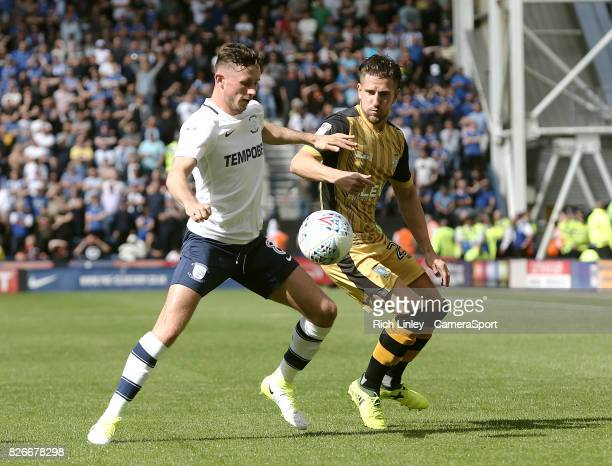 Preston North End's Alan Browne vies for possession with Sheffield Wednesday's Sam Hutchinson during the Sky Bet Championship match between Preston...