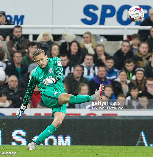 Preston North End's Anders Lindegaard in action during the EFL Cup 4th Round match between Newcastle United and Preston North End at St James' Park...