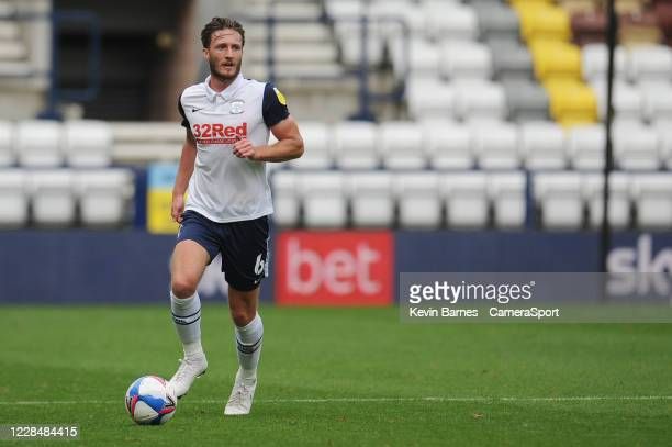 Preston North End's Ben Davies during the Sky Bet Championship match between Preston North End and Swansea City at Deepdale on September 12 2020 in...