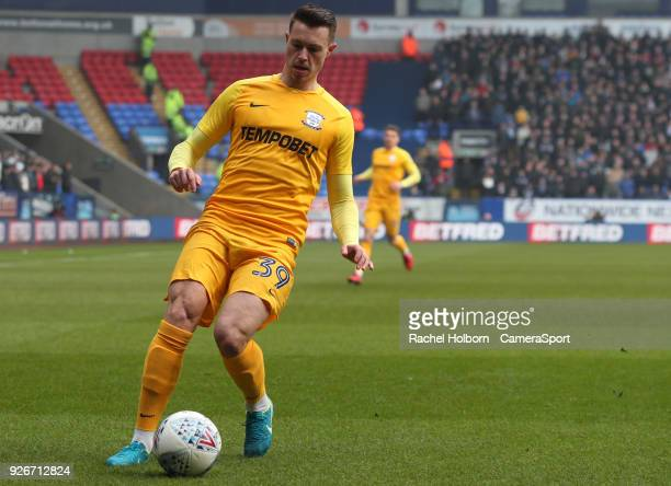 Preston North End's Billy Bodin during the Sky Bet Championship match between Bolton Wanderers and Preston North End at Macron Stadium on March 3...