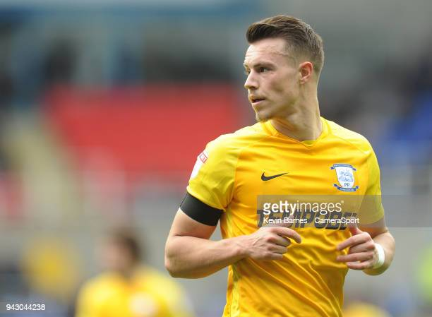 Preston North End's Billy Bodin during the Sky Bet Championship match between Reading and Preston North End at Madejski Stadium on April 7 2018 in...