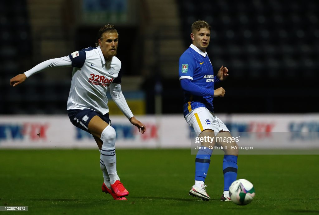 Preston North End v Brighton and Hove Albion - Carabao Cup - Third Round - Deepdale Stadium : News Photo