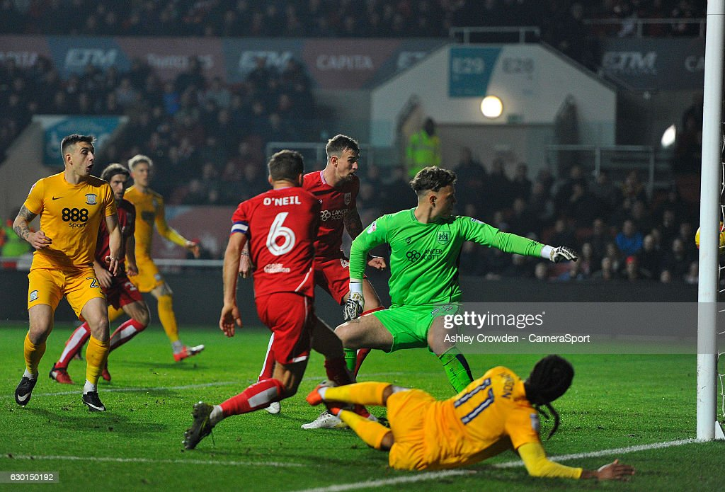 GOAL - Preston North End's Daniel Johnson scores his sides second goal during the Sky Bet Championship match between Bristol City and Preston North End at Ashton Gate on December 17, 2016 in Bristol, England.