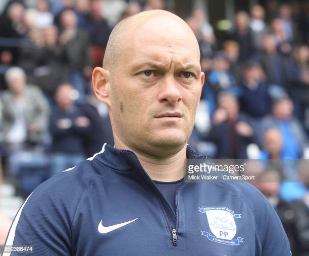 Preston North End's Manager Alex Neil during the Sky Bet Championship match between Preston North End and Millwall at Deepdale on September 23 2017...