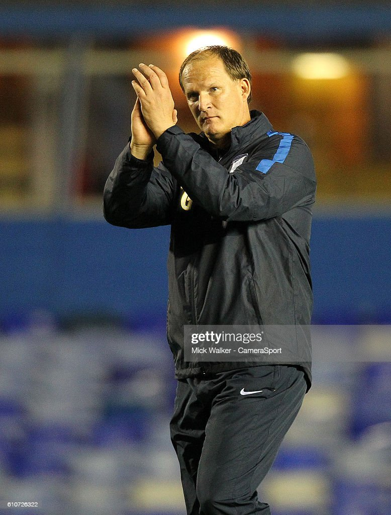 Preston North End's Manager Simon Grayson during the Sky Bet Championship match between Birmingham City and Preston North End at St Andrews (stadium) on September 27, 2016 in Birmingham, England.