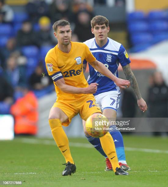 Preston North End's Paul Huntington during the Sky Bet Championship match between Birmingham City and Preston North End at St Andrew's Trillion...