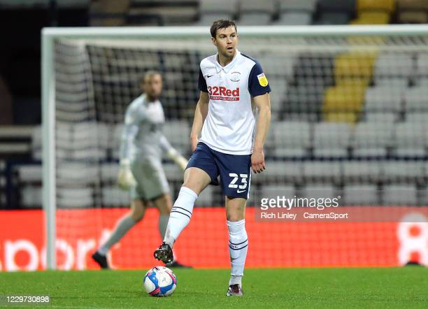 Preston North End's Paul Huntington during the Sky Bet Championship match between Preston North End and Sheffield Wednesday at Deepdale on November...