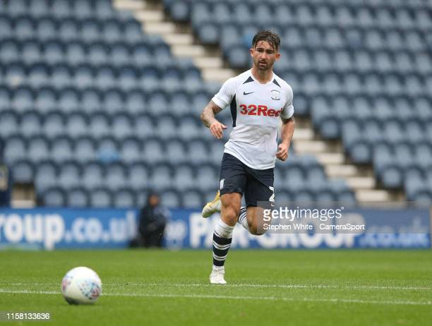 PRESTON ENGLAND JULY Preston North End's Sean Maguire during the PreSeason Friendly match between Preston North End and Newcastle United at Deepdale...