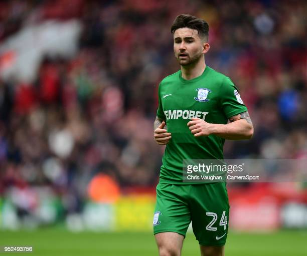 Preston North End's Sean Maguire during the Sky Bet Championship match between Sheffield United and Preston North End at Bramall Lane on April 28...