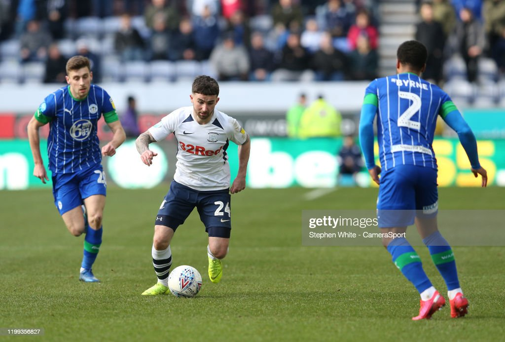 Wigan Athletic v Preston North End - Sky Bet Championship : Nyhetsfoto