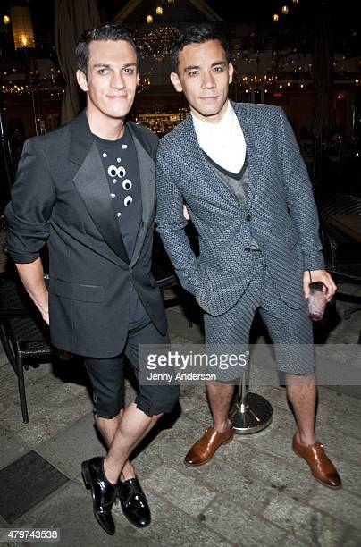 Preston Sadleir and Conrad Ricamora attend Lincoln Center Festival's Danny Elfman's Music From the Films of Tim Burton after party at Tavern on the...