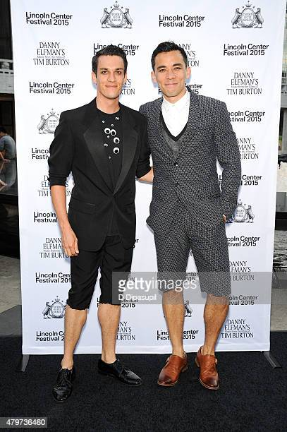 Preston Sadleir and Conrad Ricamora attend the opening night of Danny Elfman's Music from the Films of Tim Burton at the 2015 Lincoln Center Festival...
