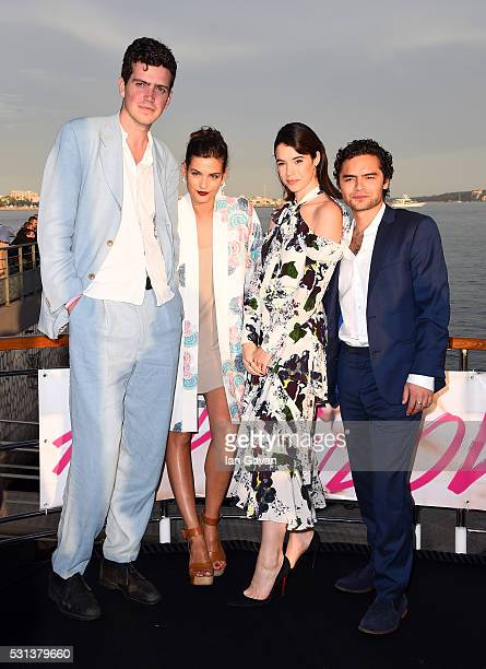 Preston Thompson Alma Jodorowsky Gala Gordon and Sebastian de Souza attend the 'Kids In Love' photocall during the 69th annual Cannes Film Festival...