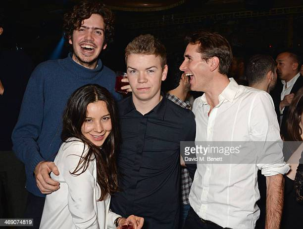 Preston Thompson guest Will Poulter and Otis Ferry attend The Box 3rd Birthday Party sponsored by Belvedere Vodka at The Box Soho on February 12 2014...