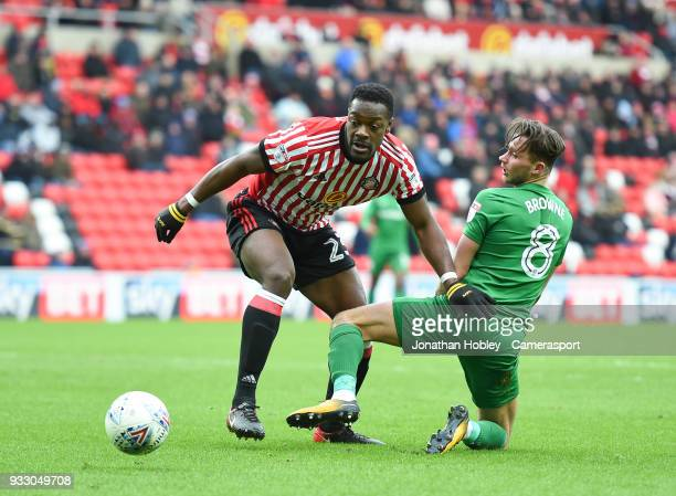 Preston's Alan Browne battles with Sunderland's Lamine Kone during the Sky Bet Championship match between Sunderland and Preston North End at Stadium...