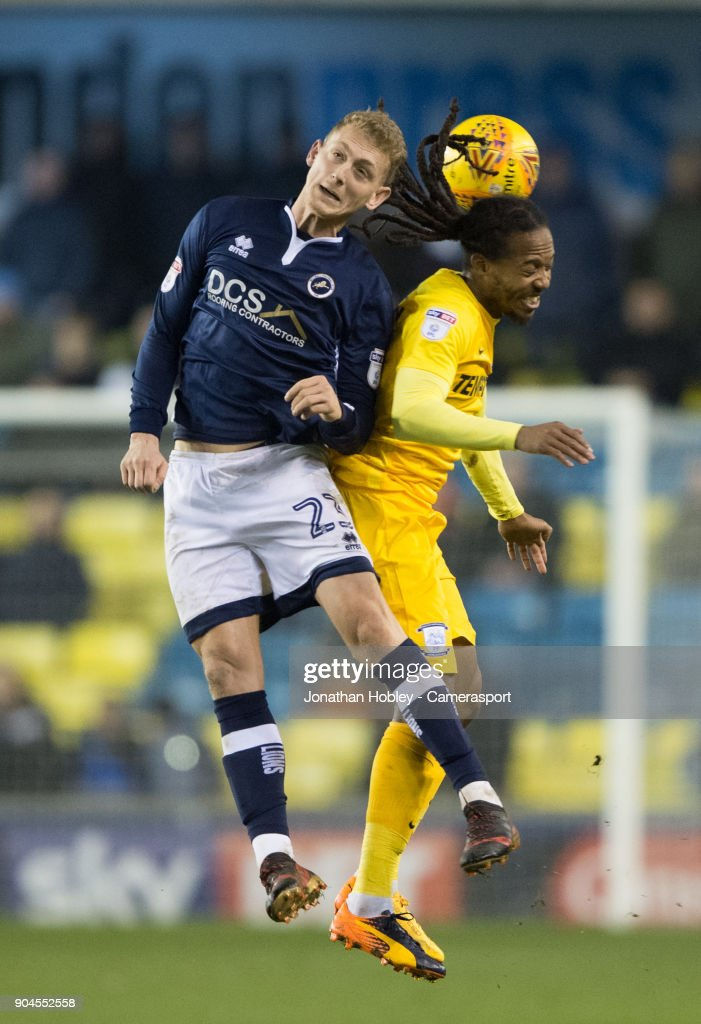 Preston's Daniel Johnson during the Sky Bet Championship match between Millwall and Preston North End at The Den on January 13, 2018 in London, England.