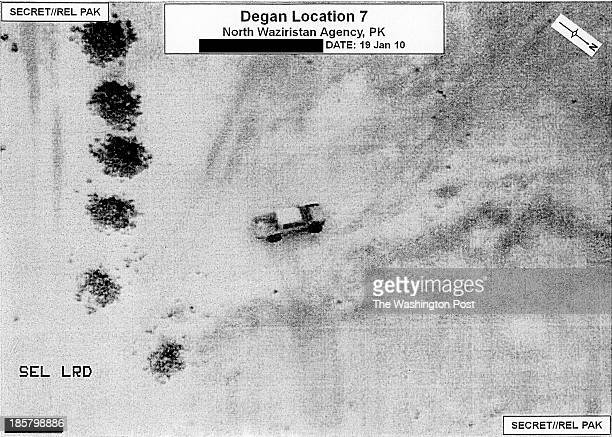 A prestrike surveillance image from a drone in North Waziristan Pakistan labeled Degan Location 7 on January 19 2010 All references to GEO location...